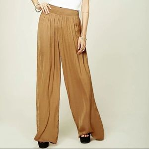 Mustard yellow super soft and flowy palazzo pants